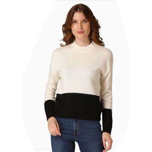 Philosophy colour block crew neck sweater jumper